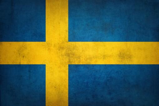 Grunge Sweden flag Vintage Swedish flag
