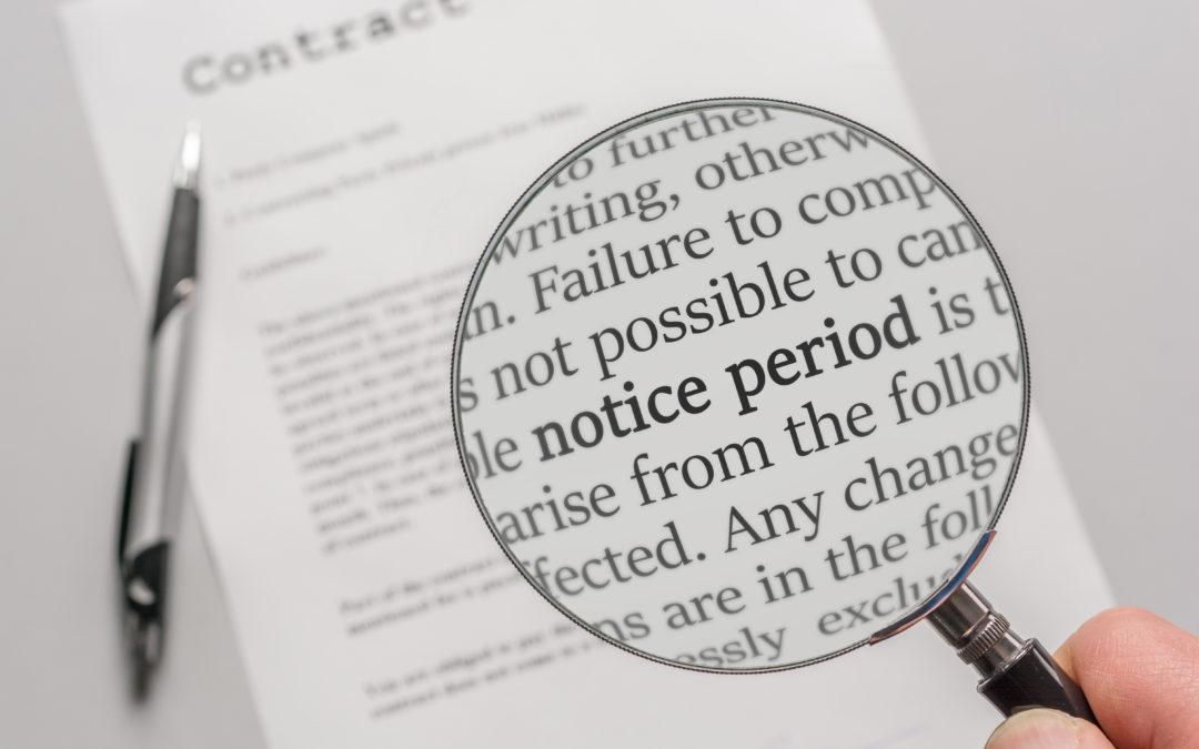 Statutory Notice Periods No Longer Included in Furlough